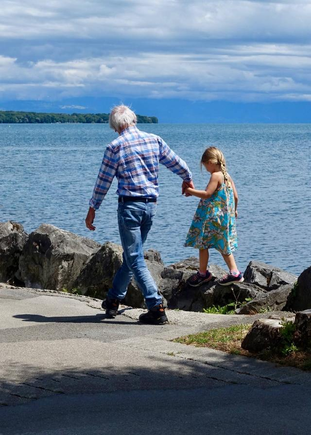 grandad and grandchild